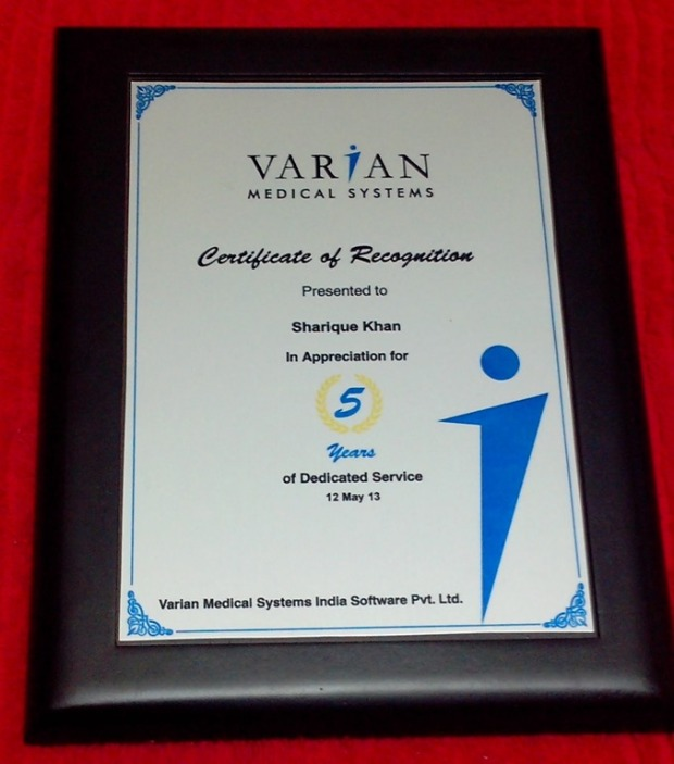 5 Years in Varian Shield